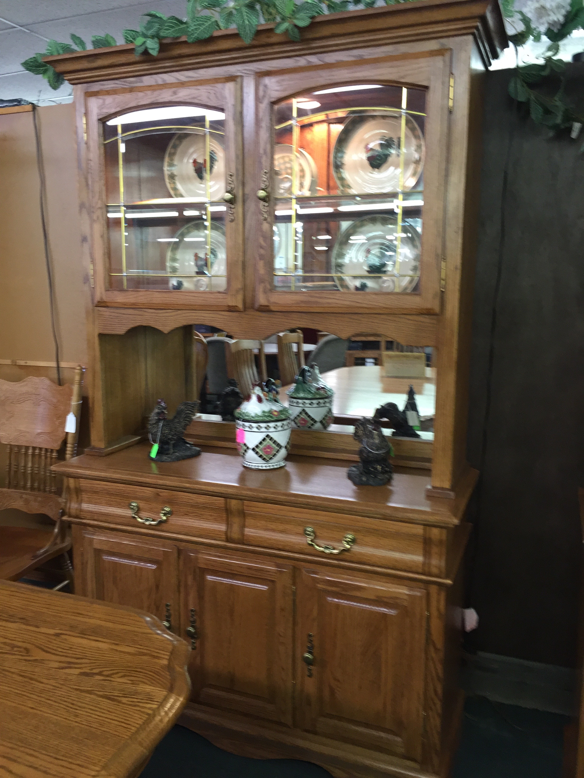 paint hutch faux diy mantel with from using old chalk cabinet china an